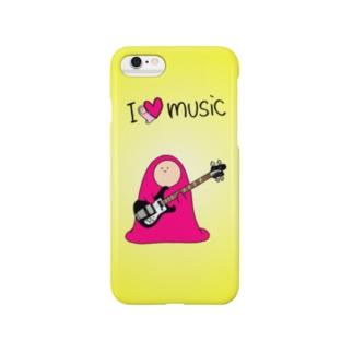 I LOVE MUSIC - アイラヴミュージック エレクトリックベースVer. Smartphone cases