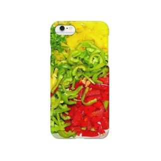 カットしたパプリカと青唐辛子(ミートソースの具材) Smartphone Case