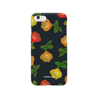 Water color flower black Smartphone cases