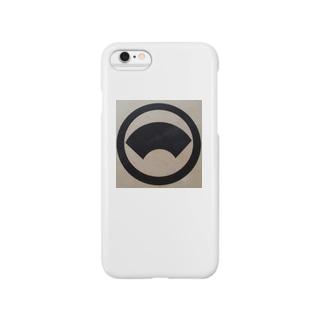丸に地紙 Smartphone cases