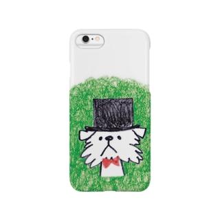 シルクハットの紳士グリフォン Smartphone cases