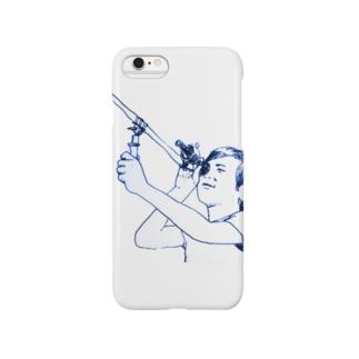 星をみる坊や Smartphone cases