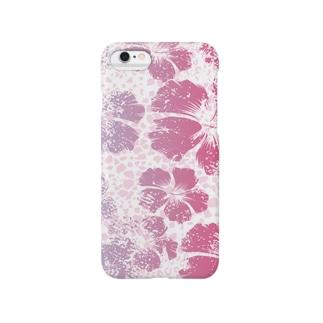 leopard *hibiscus(pink) Smartphone cases