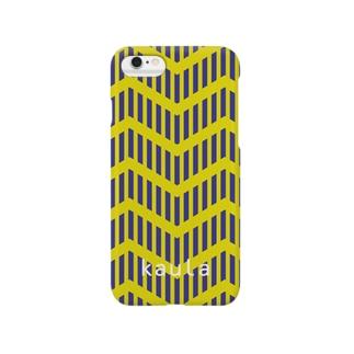 kaura_zigzag01(yellow) Smartphone cases