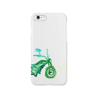 Green motorbike Smartphone cases