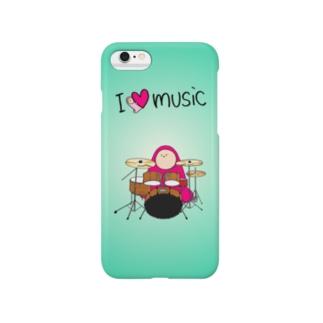 I LOVE MUSIC - アイラヴミュージック ドラムVer.  Smartphone cases
