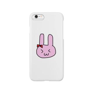 うさ丸太 Smartphone cases