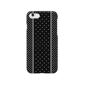 ロンドンポルカドットblack Smartphone cases
