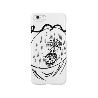 あわしまくんの顔シリーズ Smartphone cases