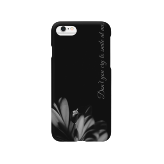紅retina.のDon't you cry to smile at me. Smartphone cases