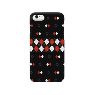 ヴィンテージアーガイルblack Smartphone cases