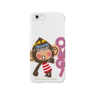 """ドングリ頭のチンパンジー""""オーマイガッ!OMG!"""" Smartphone cases"""