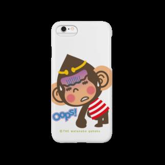 """ザ・ワタナバッフルのドングリ頭のチンパンジー""""Oops!"""" Smartphone cases"""