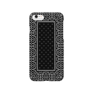ビンテージバンダナver.1blk Smartphone cases