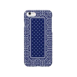 garyu_by_HiRiver_Designのビンテージバンダナver.1blu Smartphone cases