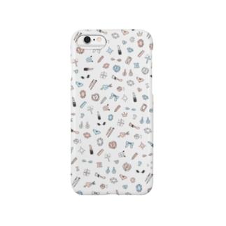 ホワイト Smartphone cases