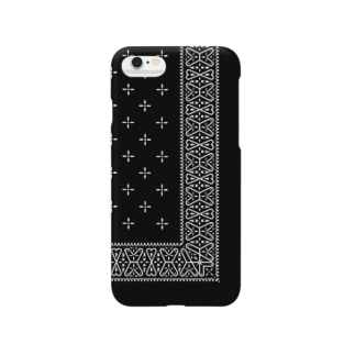 garyu_by_HiRiver_Designのヴィンテージバンダナver.2blk Smartphone cases