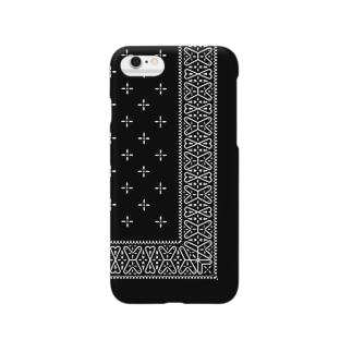 ヴィンテージバンダナver.2blk Smartphone cases
