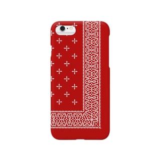 ヴィンテージバンダナver.2red Smartphone cases