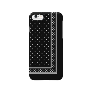 garyu_by_HiRiver_Designのロンドンポルカドットver.2blk Smartphone cases