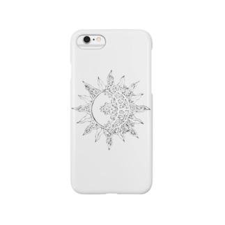 SUN&MOON 太陽と月 エスニック★ Smartphone cases