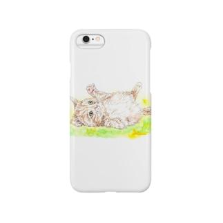 佳山隆生 わんにゃん画(じゃれ猫) Smartphone cases