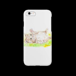 佳山隆生 アートギャラリーの佳山隆生 わんにゃん画(じゃれ猫) Smartphone cases
