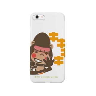 """ぽっこりゴリラ""""爆笑:キキキキ"""" Smartphone cases"""