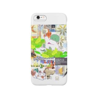 304★月山いつこ作品●雪空■緑の2 Smartphone cases
