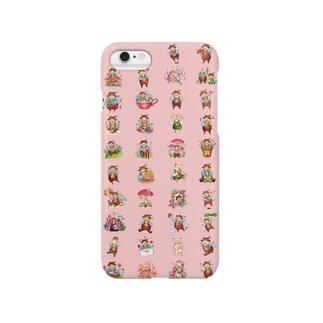 *じゃがいもおじさんピンク* Smartphone cases