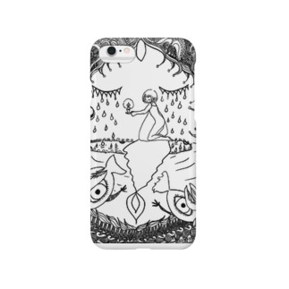 閉じた泉 モノクロ Smartphone cases