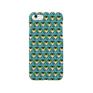 やぶねこドット(ターコイズブルー) Smartphone cases