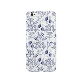 haiiro 花と木の実 模様 Smartphone cases