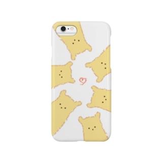 くまのふわふわビスケット Smartphone cases