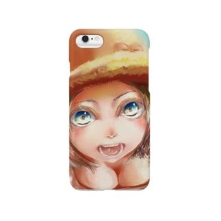 帽子の女の子 Smartphone cases