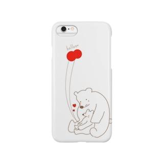 シロクマと風船 Smartphone cases