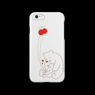 キオのシロクマと風船 Smartphone cases