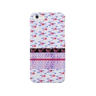 和柄 梅 白 Smartphone cases