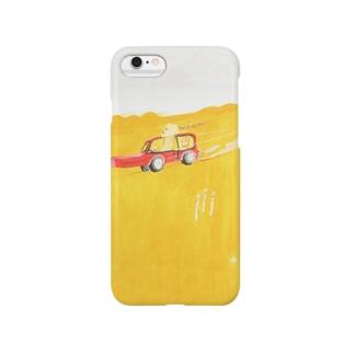 車で走っている。つくしが3本あるよ Smartphone cases