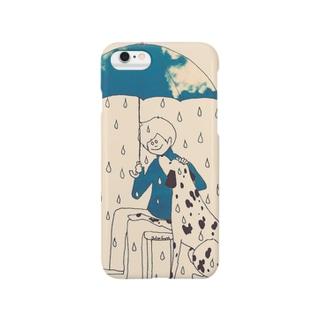 大好きな、雨降る雨傘☂ スマートフォンケース