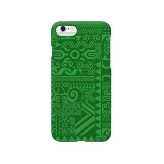 ポリネシアン模様 Smartphone cases