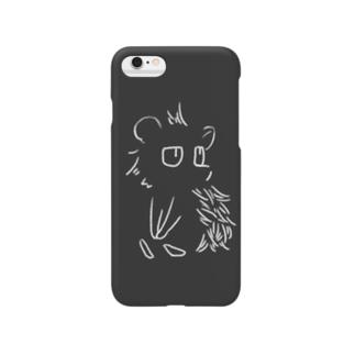 見つめる針鼠(白)[iPhone6,6s,7,8専用] Smartphone cases