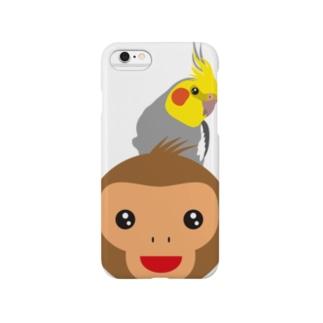 2016 おさるモンキー オカメインコのせ Smartphone cases