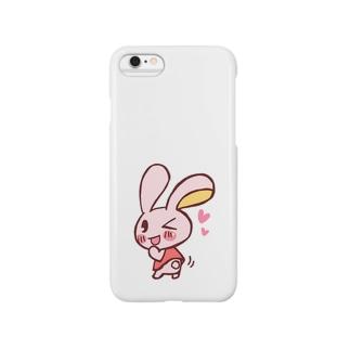ふりふりうさぎ Smartphone cases