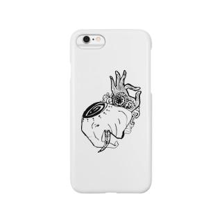 サイケデリックエレファント Smartphone cases