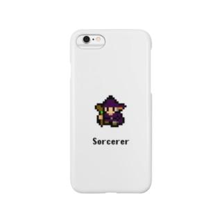 ドット絵の魔法使い(ホワイト) Smartphone cases