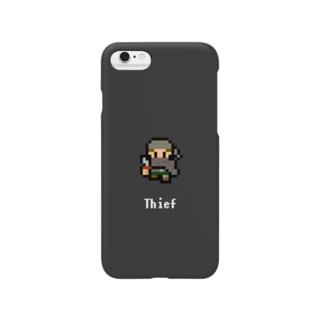 ドット絵の盗賊(スミ) Smartphone cases