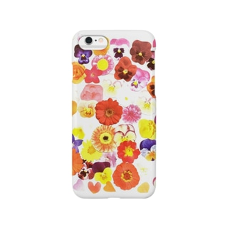 新ビオラシール柄 Smartphone cases