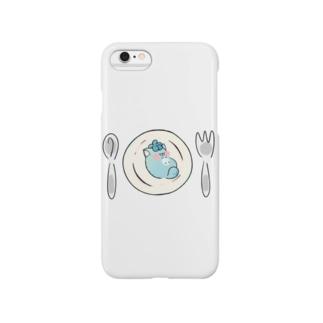 皿の上のじんねこ Smartphone cases