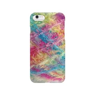 ふわふわ毛糸 Smartphone cases